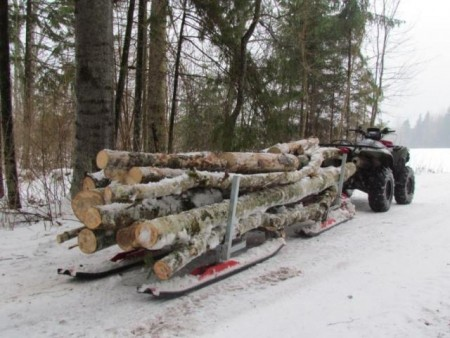 Snøscooter-kjelker og Vinterbruk